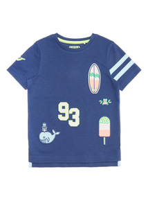 Blue Appliqué Badge Tee (9 months - 6 years)