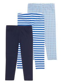 Blue Stripe Leggings 3 Pack (3 - 12 years)