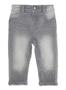 Boys Grey Loopback Jeans (0-24 Months)