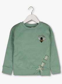 97529e4ba0 Green  Bee Happy  Sweatshirt (3-14 Years)