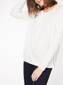 Cream Plain Bubblehem Top
