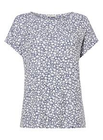 Ditsy Knit T-Shirt