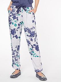 Blue Floral PJ Bottoms