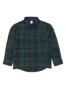 Green Brushed Check Shirt (3-14 years)
