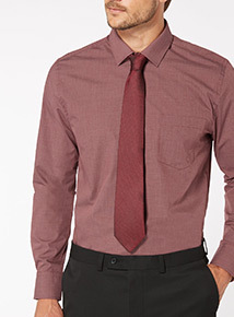Red Textured Tie
