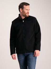 Black Moleskin Fleece