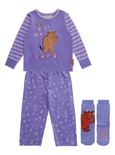 Kids Girls Purple Gruffalo Pyjama With Socks 9 Months 5