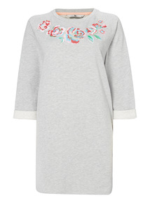 Embroidered Floral Sweat Tunic