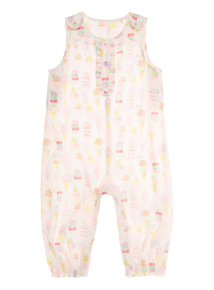 Multicoloured Ice Cream Woven Romper (0 - 24 months)