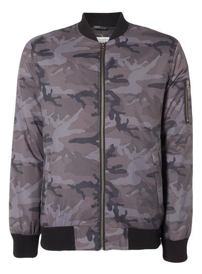 Charcoal Camouflage Bomber Jacket