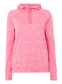 Pink Cowl Neck Hoody