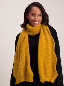 Mustard Super Soft Knit Scarf