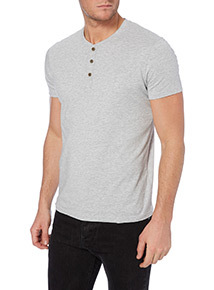 Grey Marl Grandad T-shirt