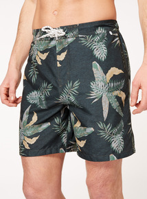 Khaki Banana Leaf Board Shorts