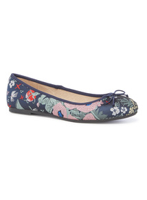 Multicoloured Jacquard Ballerina Pumps