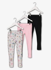Multicoloured Leggings 3 Pack (3-14 years)