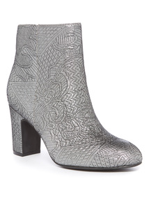 Jacquard Block Heel Boot