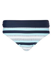 Stripe Roll Top Bikini Bottoms