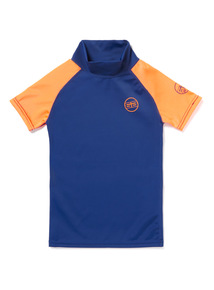 Unisex Navy and Orange Rash Vest (1-12 years)