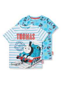 2 Pack Multicoloured Thomas the Tank Engine Tees (9 months-6 years)