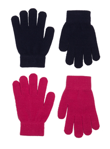 Navy and Pink Magic Gloves 2 Pack
