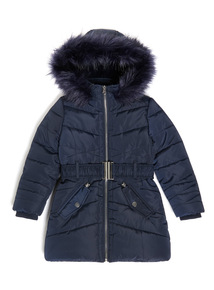 Navy Puffer Coat (3-14 years)