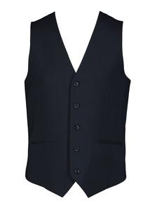 Navy Dogtooth Waistcoat