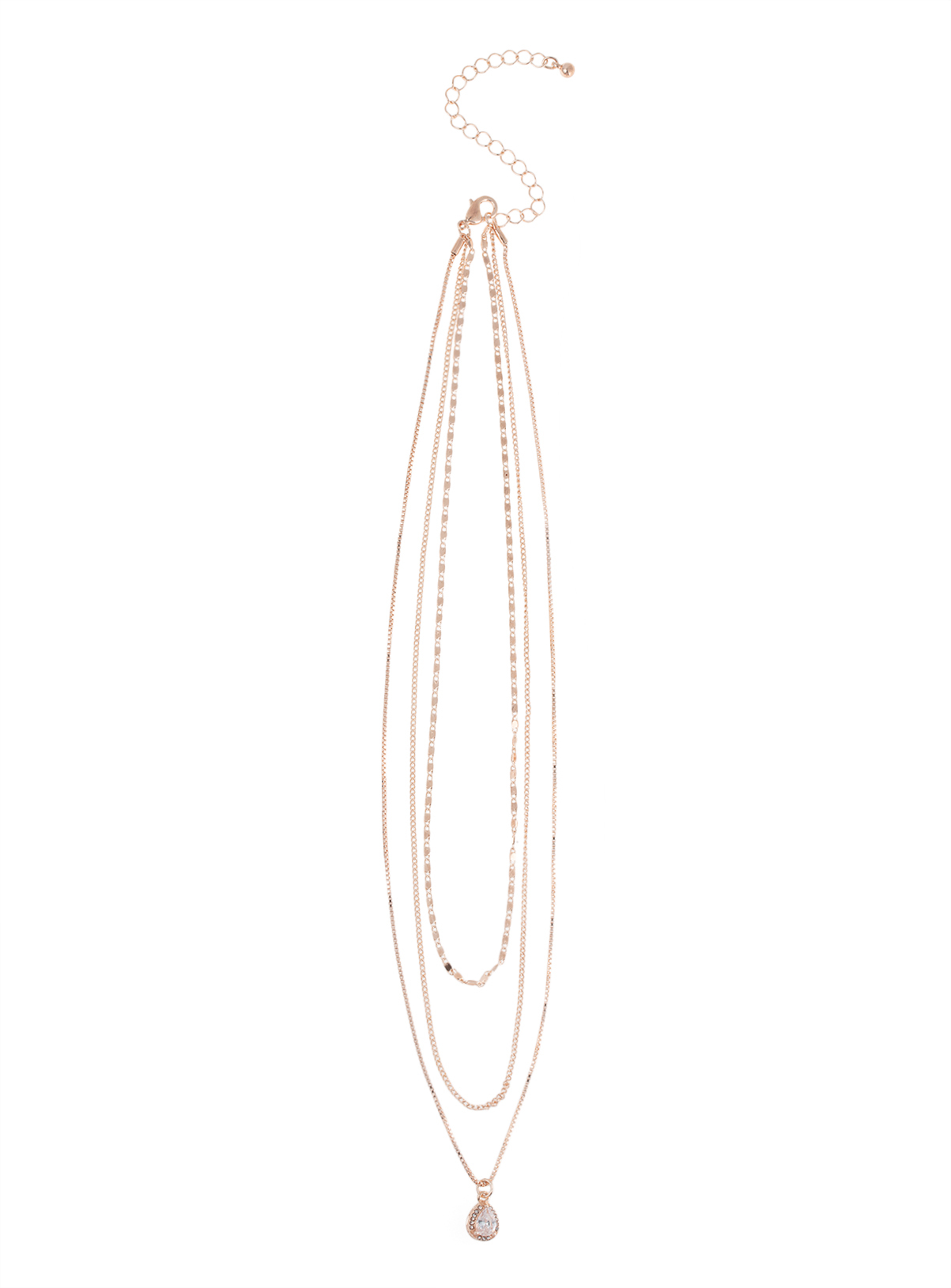 Wanted Rose Gold Tone Teardrop Earring & Necklace Set