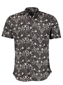 Frontman Monochrome Floral Shirt