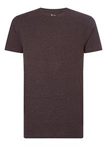 Purple Textured Crew Neck T-Shirt