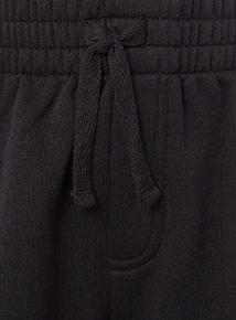 Boys Black Sweat Shorts 2 Pack (3-12 years)