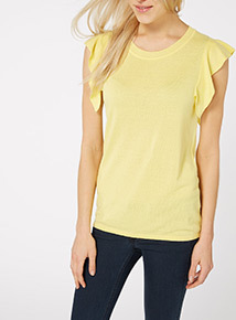 Yellow Frill Jumper