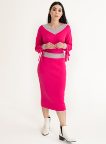 GFW Online Exclusive Cerise Pink Mid Length Skirt