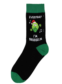 Christmas Brussel Sprout Novelty Socks