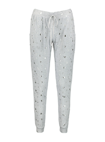 Grey Heart Foiled Soft Touch Pyjama Bottoms