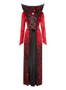 Adult Red Halloween Vampiress Costume
