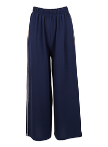 IZABEL Navy Wide Leg Trousers