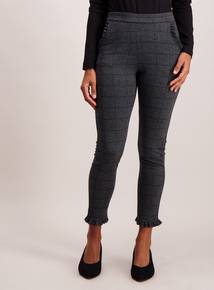 Grey Slim Leg Stretch Trousers