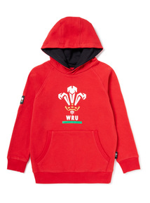 Red Welsh Rugby Union Hoodie (3-14 years)