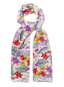 Multicoloured Floral Print Scarf