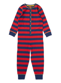 Red and Blue Stripe Retro All-In-One (1.5--12 years)