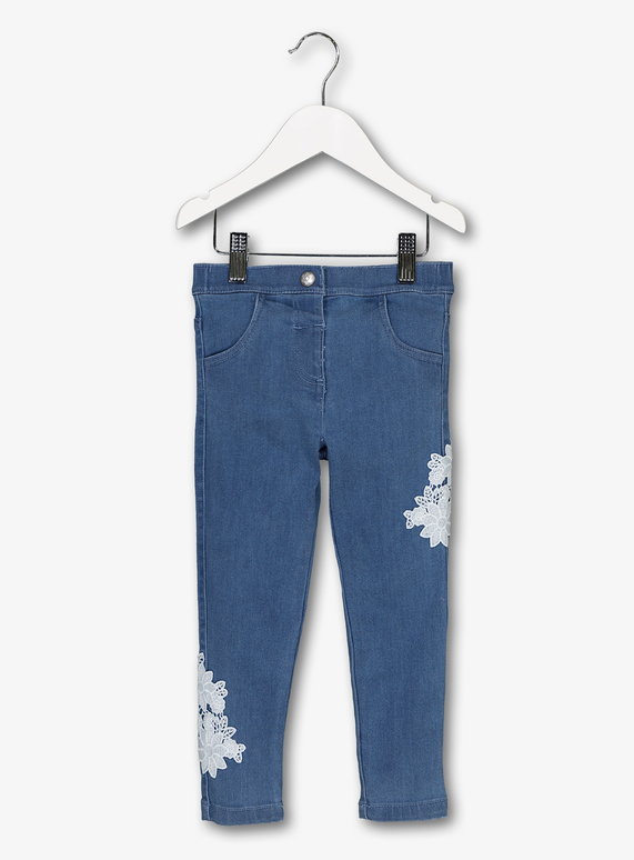6a8174d6c Baby Blue Lace Detail Stretch Jeans (9 Months - 6 Years) | Tu clothing