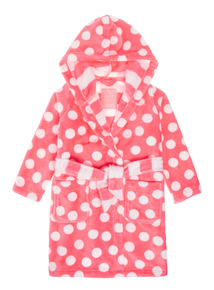 Pink Spot Print Dressing Gown(3-12 years)