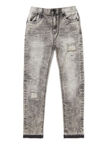 Grey Graffiti Skinny Jeans (3-14 years)