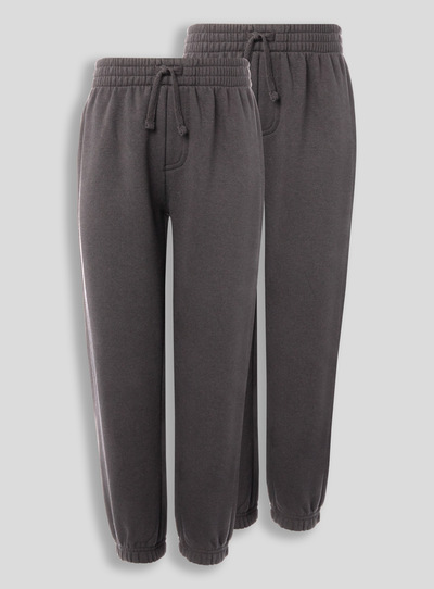 Grey Elastic Cuffed Joggers 2 Pack (10-16 years)