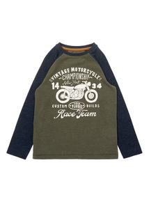 Boys Khaki Bike Top (3-12 years)
