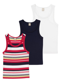 Multicoloured Vest 3 Pack (3 - 12 years)