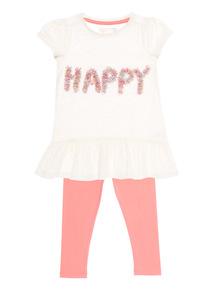 Girls Pink Happy Set (9 months-6 years)