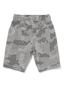 Grey Geographic Print Jersey Shorts (3-14 years)