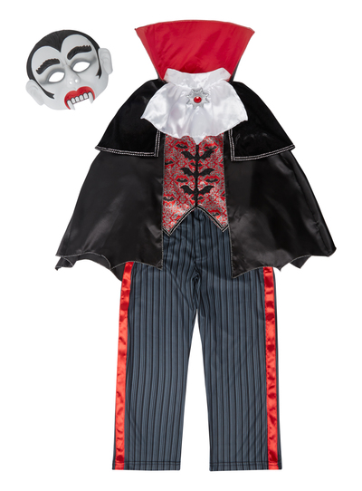 Halloween Vampire Costume Kids.Sku Vampire With Sound Black